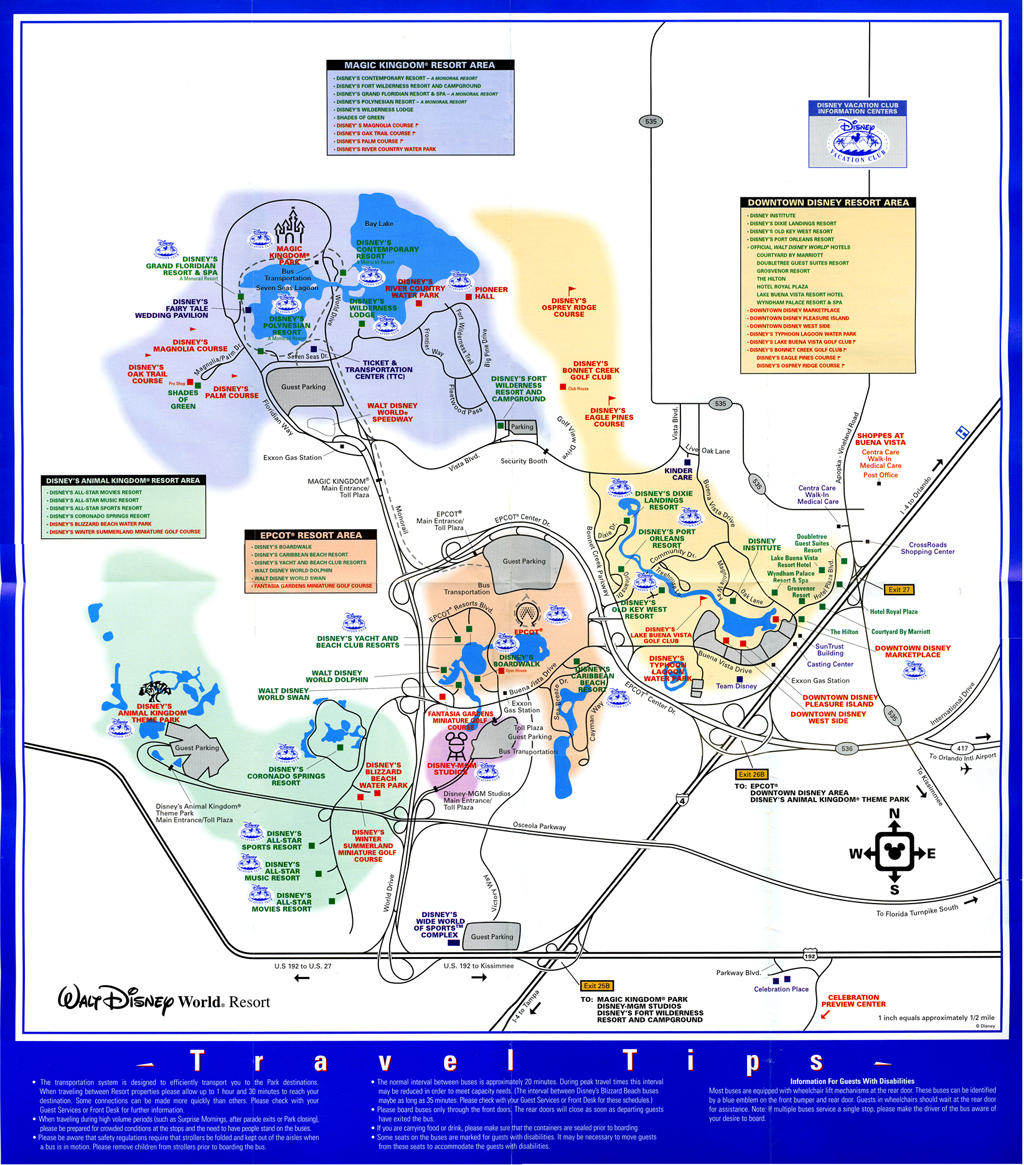 Walt Disney World Monorail Map   Pics   Download  